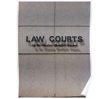 Edmonton Law Courts Poster