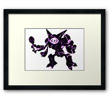 Pokemon Alakazam psychic fracture Framed Print