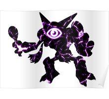 Pokemon Alakazam psychic fracture Poster