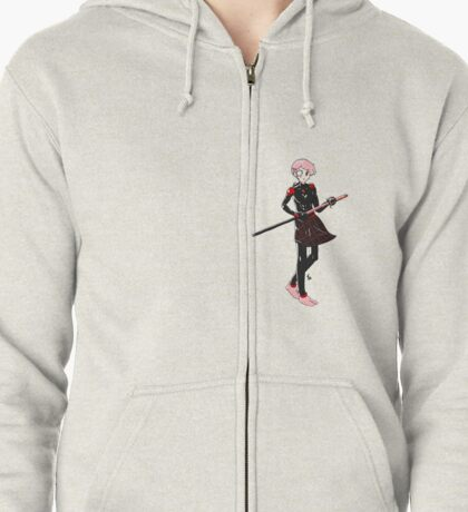 Misha (Katawa Shoujo) Cyborg Ninja Zipped Hoodie