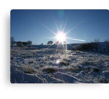 Sunrise over a snowy Britain Canvas Print