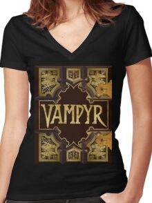 Vampyr Book Women's Fitted V-Neck T-Shirt