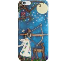 Diana Goddess of the Moon and Hunt iPhone Case/Skin