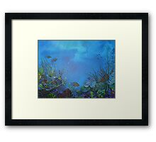 Under the ocean Framed Print