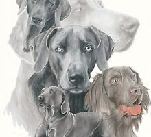 Weimaraner w/Ghost by BarbBarcikKeith