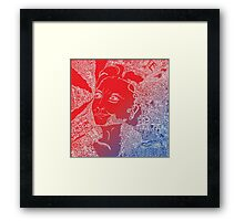Hillary Clinton in red white and blue Framed Print
