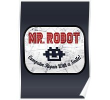 Mr Robot - Computer Repairs With A Smile Badge Poster