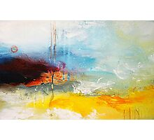 Abstract sea oil painting Photographic Print