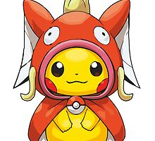 Pikachu Dressed as Magikarp by Eat Sleep Poke Repeat