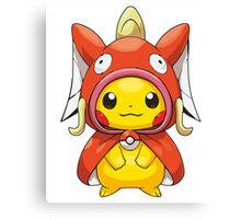 Pikachu Dressed as Magikarp Canvas Print