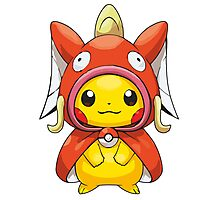 Pikachu Dressed as Magikarp Photographic Print
