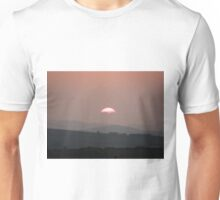 Setting Sun over Fahan, Donegal,Ireland.  Unisex T-Shirt