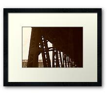 Bridge Town, USA Framed Print