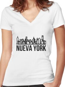 Nueva York Women's Fitted V-Neck T-Shirt