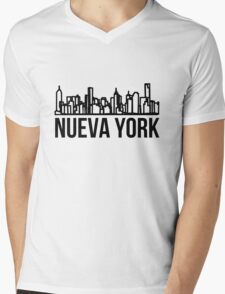 Nueva York Mens V-Neck T-Shirt