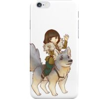 Bran Stark and Summer v.1 iPhone Case/Skin