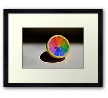 Lemon Colour Wheel Framed Print