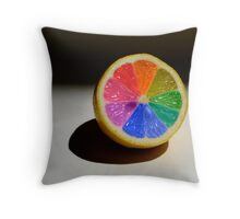 Lemon Colour Wheel Throw Pillow