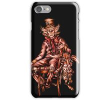Mad Hatter with March Hare Drawing iPhone Case/Skin
