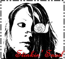 Stinkin' Snail... Photographic Print