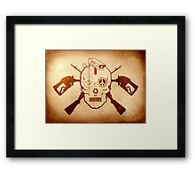 Doom Skull, Beware! Framed Print