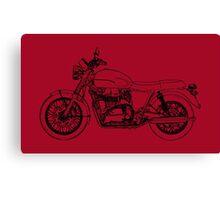 Triumph Bonneville T100 Motorcycle Canvas Print