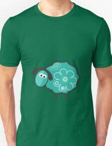 Blue Lucky Sheep Vector Illustration Unisex T-Shirt