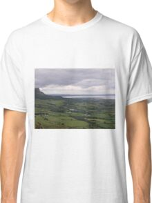 Benevenagh Mountain Magilligan Co. Derry looking over Lough Foyle  to Co.Donegal Ireland   Classic T-Shirt