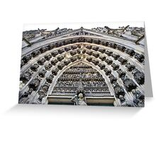 Cathedral in Cologne Germany - Front View Greeting Card