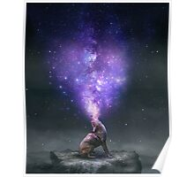 All Things Share the Same Breath (Coyote Galaxy) Poster