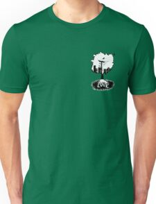 Rooted in love (small logo) Unisex T-Shirt