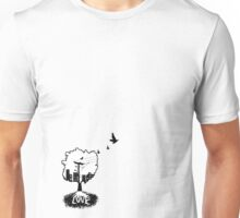Rooted in love (small logo bottom corner) Unisex T-Shirt