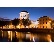 Four Courts Dublin at Dusk Photographic Print