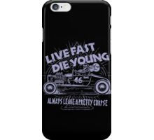 Hot Rod Live Fast Die Young - Purple (alpha bkground) iPhone Case/Skin