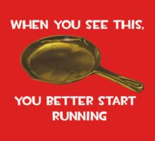 Golden frying pan runing joke by IndieKai