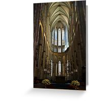Cathedral in Cologne Germany - Interior Greeting Card