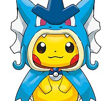 Pikachu Dressed as Gyarados by Eat Sleep Poke Repeat