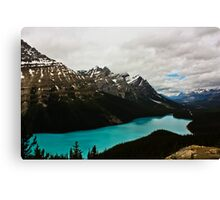 Peyto Lake (Canadian Rockies) Canvas Print