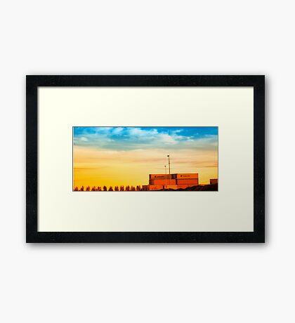 Tin Parcels Framed Print