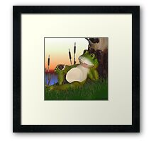 Frog and the Snail Framed Print