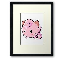 Cute Clefairy Framed Print