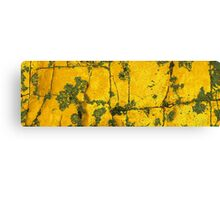 map in yellowland Canvas Print