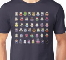 BEARS and FIGHTERS - STREET FIGHTER 4 CHARACTER SELECT DARK BACKGROUND Unisex T-Shirt