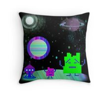 Mooninites On the air Throw Pillow