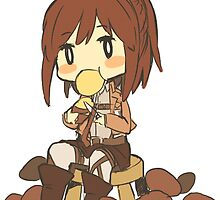 Chibi Sasha Blouse (Attack on Titan Potato Girl) by arkaidyn
