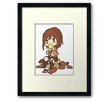 Chibi Sasha Blouse (Attack on Titan Potato Girl) Framed Print