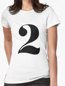 Number 2 Womens Fitted T-Shirt