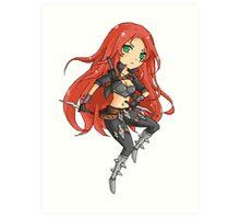Chibi Pixel Katarina (League of Legends Fan Art) Art Print