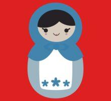 Blue Matryoshka Doll Baby Tee