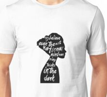 Woman in black Unisex T-Shirt